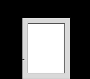 Ne pas mettre d'informations essentielles, type texte ou logo dans la zone de sécurité (grise). Cette zone peut être rognée à la production.