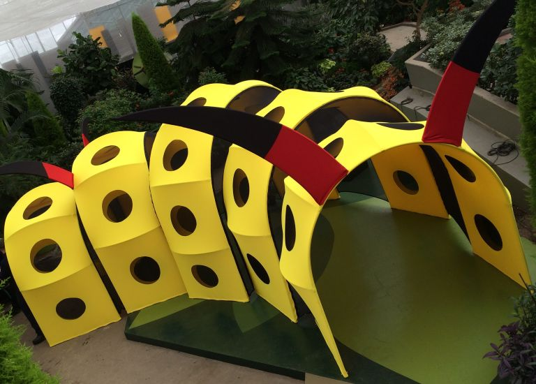 Custom made caterpillar for the Insectarium de Montréal